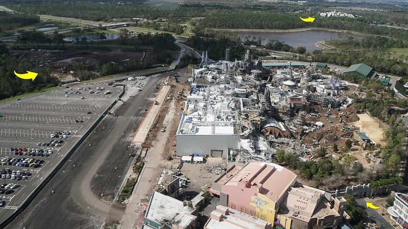Galaxy's Edge Update February 2019 aerial Star Wars hotel