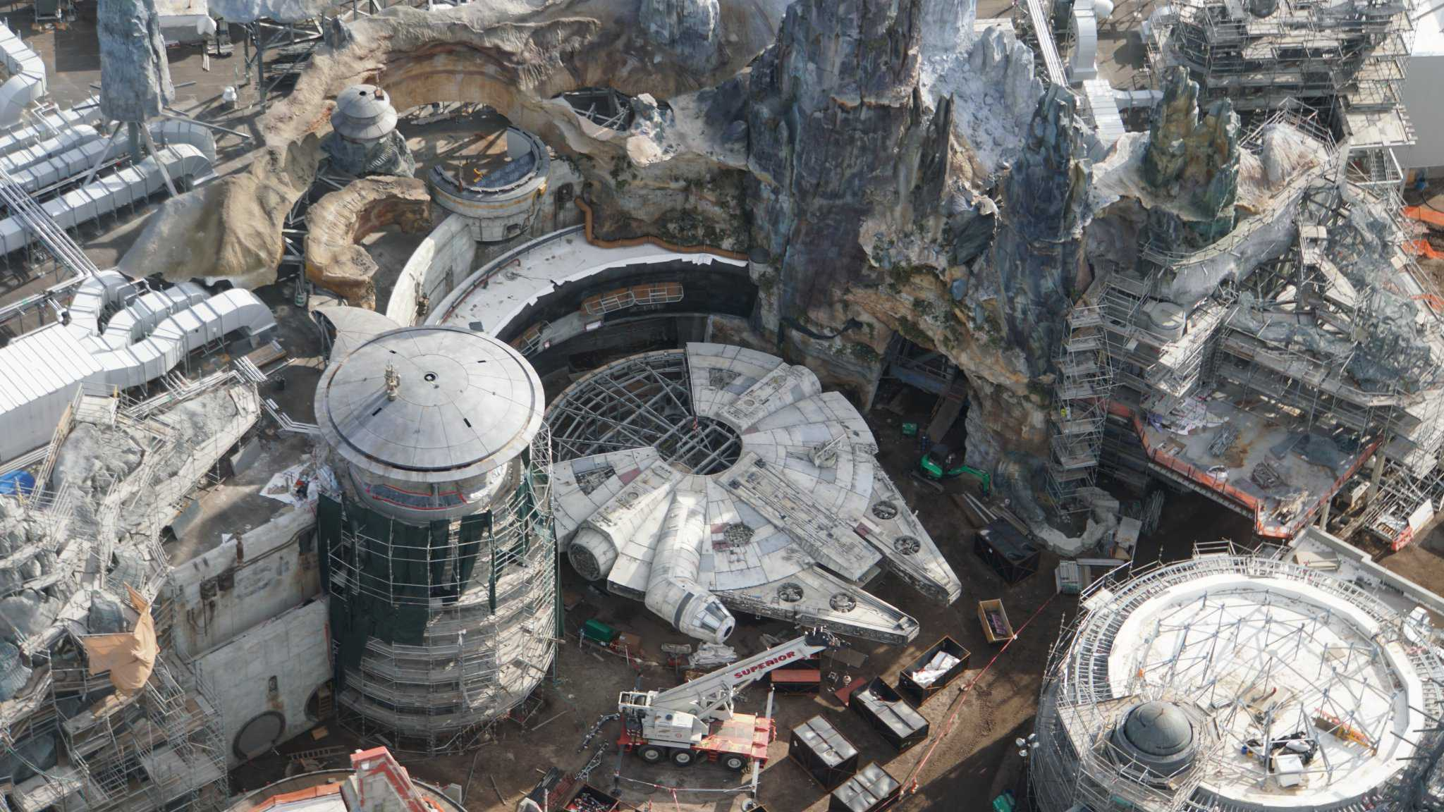 Galaxy's Edge Update February 2019 Millennium Falcon top