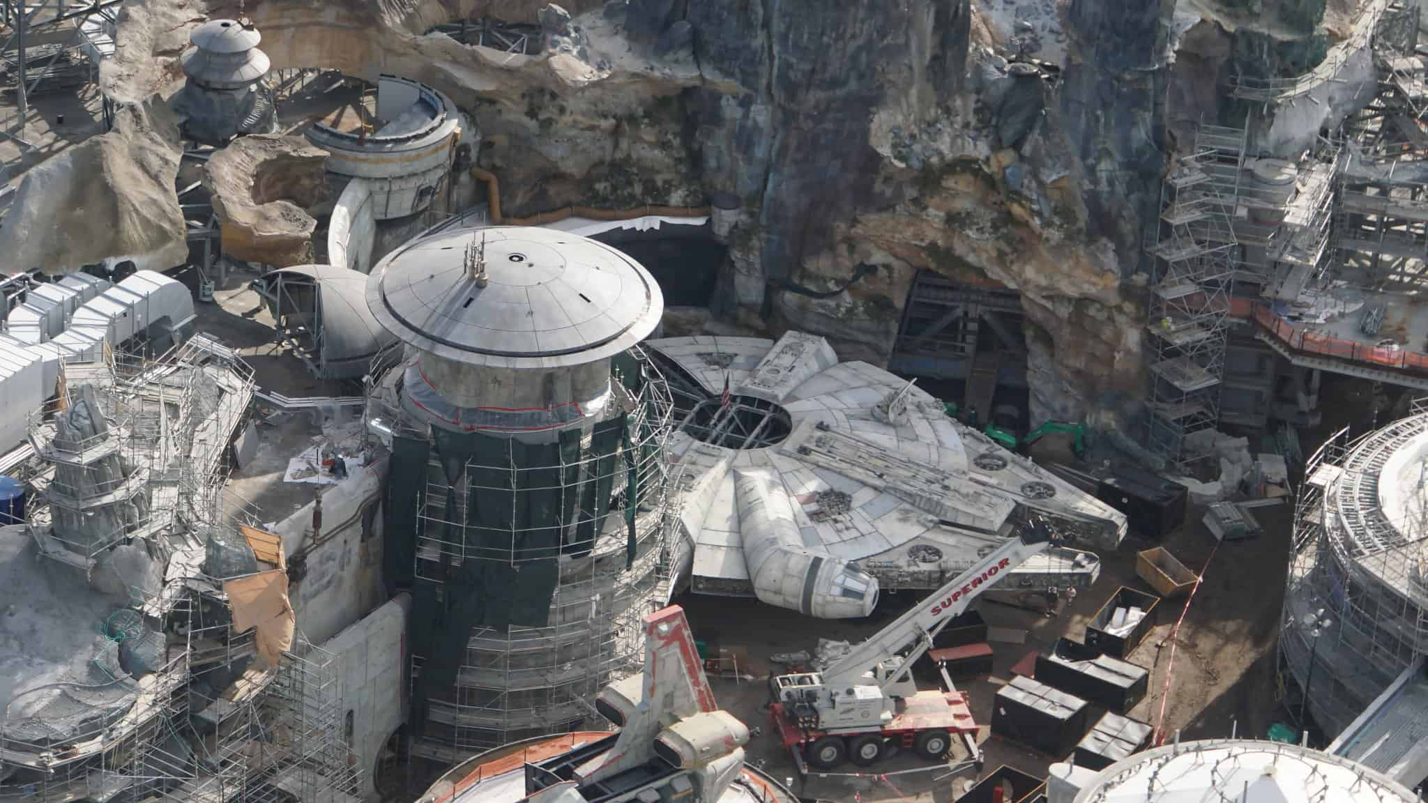 Galaxy's Edge Update February 2019 Millennium Falcon side view