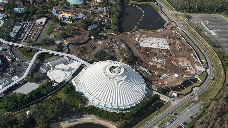 Tron Roller Coaster Construction Update February 2019 Magic Kingdom Space Mountain