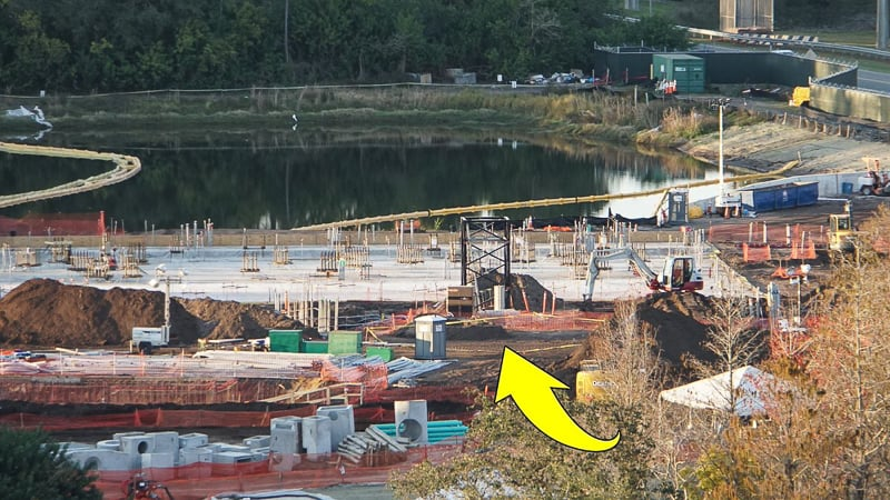 Tron Roller Coaster Construction Update February 2019 Magic Kingdom foundation close