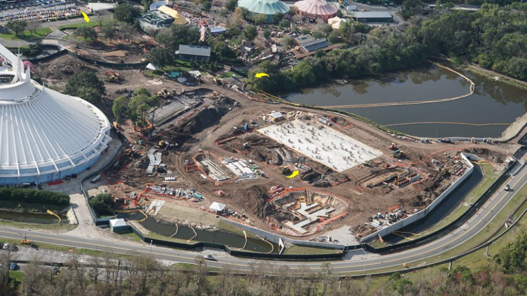 Tron Roller Coaster Construction Update February 2019 Magic Kingdom foundation