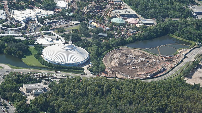 Tron Roller Coaster Construction Update February 2019 Magic Kingdom aerial