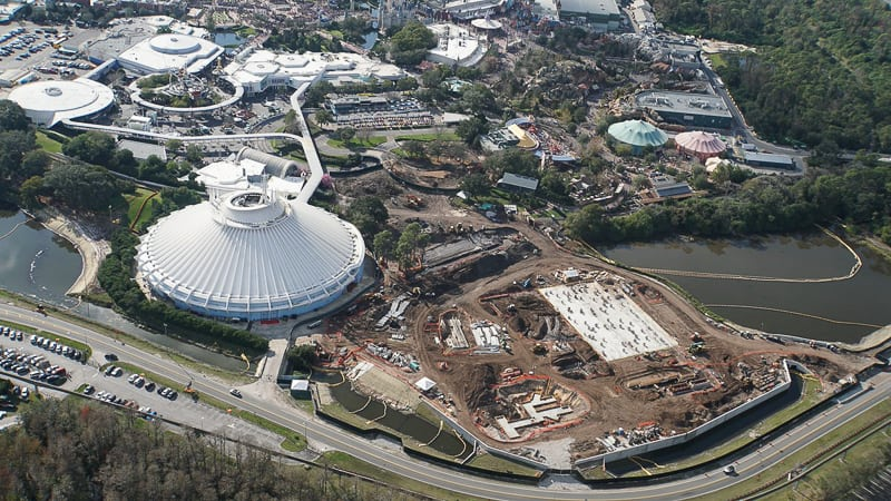 Tron Roller Coaster Construction Update February 2019 Magic Kingdom site