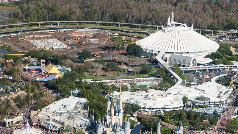 Tron Roller Coaster Construction Update February 2019 Magic Kingdom overview