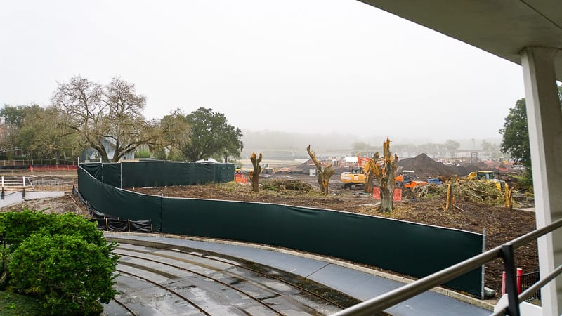 Tron Roller Coaster Construction Update February 2019 Magic Kingdom walkway