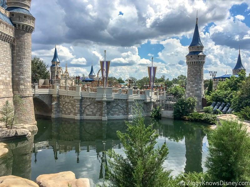 Cinderella Castle moat in Disney's Magic Kingdom