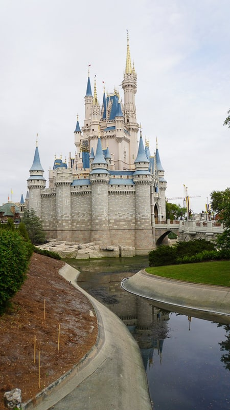 pathway behind Cinderella Castle construction update march 2019