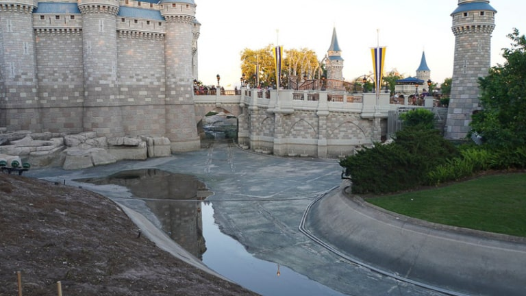 pathway behind Cinderella Castle construction update march 2019