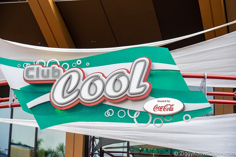 Club Cool sign in Epcot
