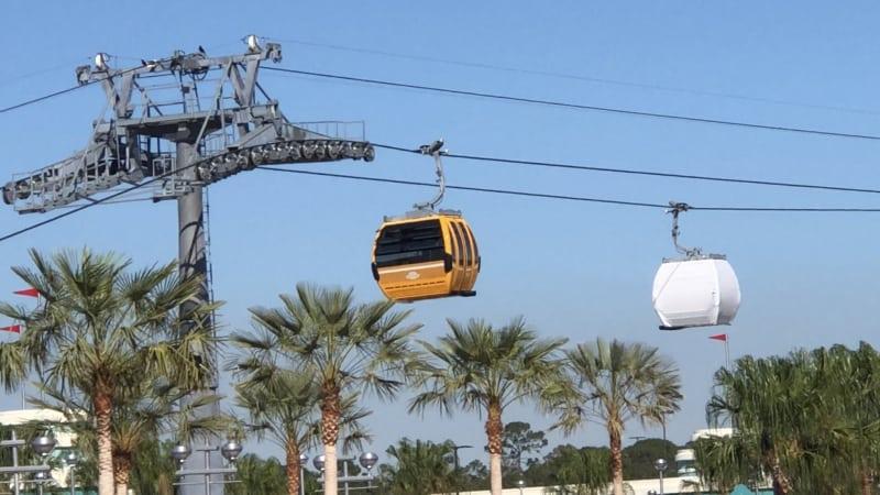 uncovered Disney Skyliner gondola car testing