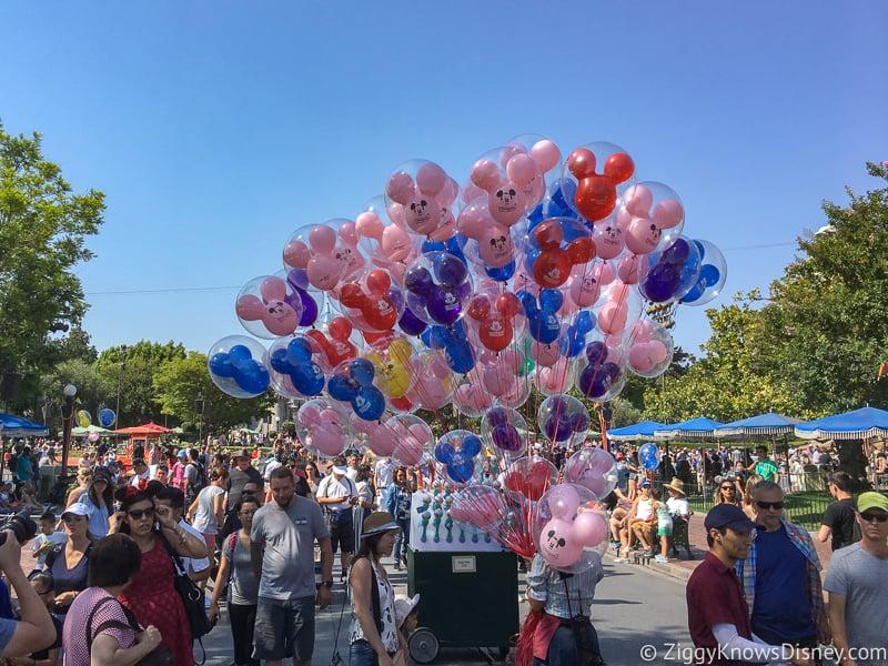 Crowds on Main Street in Disneyland