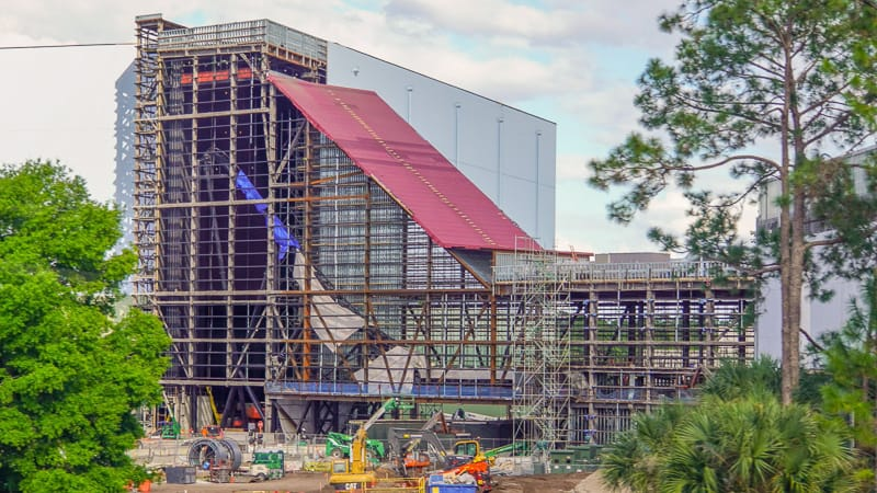 Guardians of the Galaxy Coaster Epcot Update April 2019 launch tunnel track installed