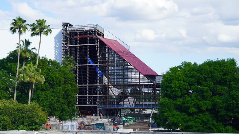 Guardians of the Galaxy Coaster Epcot Update April 2019 Track incline