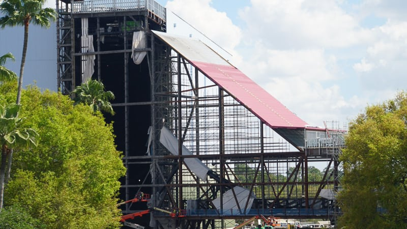 Guardians of the Galaxy Coaster Epcot Update April 2019 old view of track incline