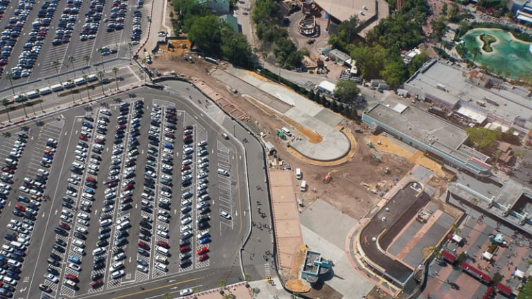Hollywood Studios Parking Lot construction update March 2019 Tram loop