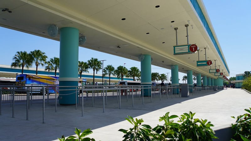 Hollywood Studios Parking Lot construction update March 2019 bus station