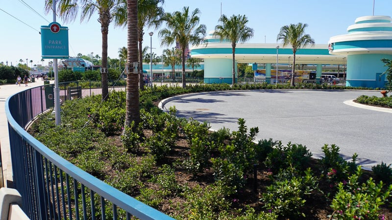 Hollywood Studios Parking Lot construction update March 2019 bus station loop
