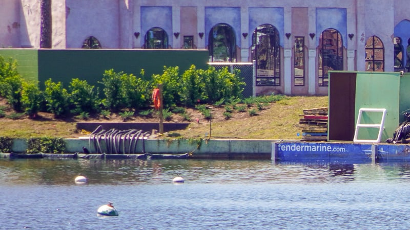 Illuminations replacement Epcot Forever construction update March 2019 cables in World Showcase Lagoon