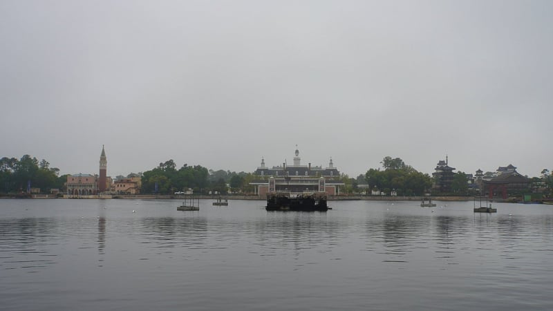 Illuminations replacement Epcot Forever construction update March 2019 middle of World Showcase Lagoon
