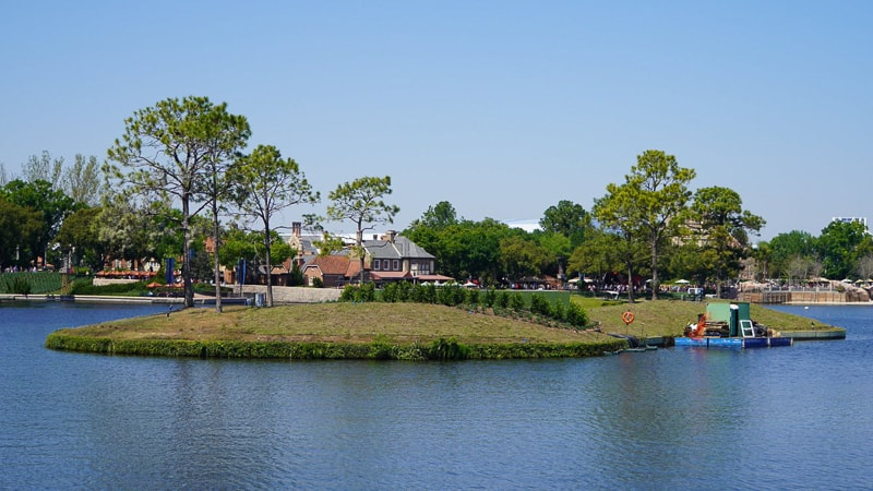 Illuminations replacement Epcot Forever construction update March 2019 work on islands in World Showcase Lagoon