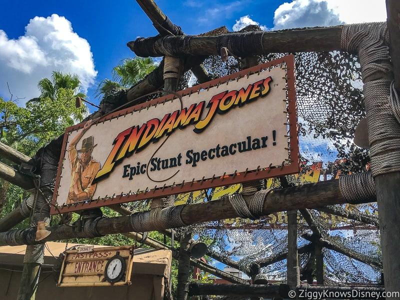 Indiana Jone Epic Stunt Spectacular Sign