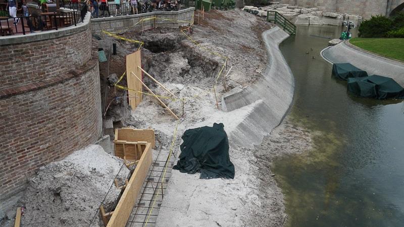 Cinderella Castle Pathway widening Magic Kingdom update April 2019