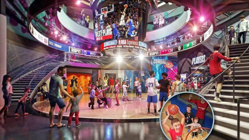 NBA Experience concept art inside