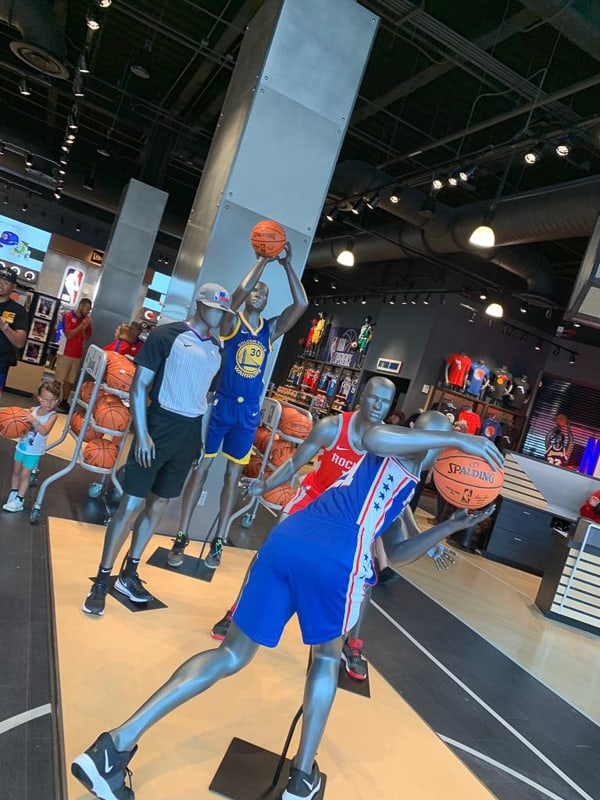 mannequins in NBA Experience Store
