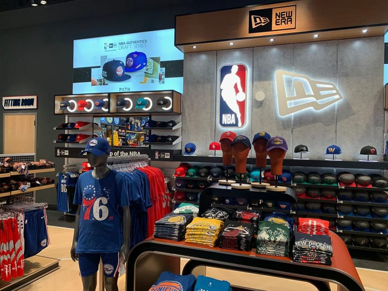 merchandise at NBA Experience Store