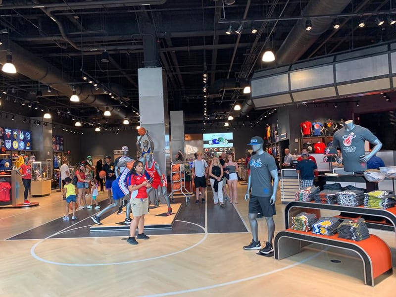 walking in the NBA Experience Store
