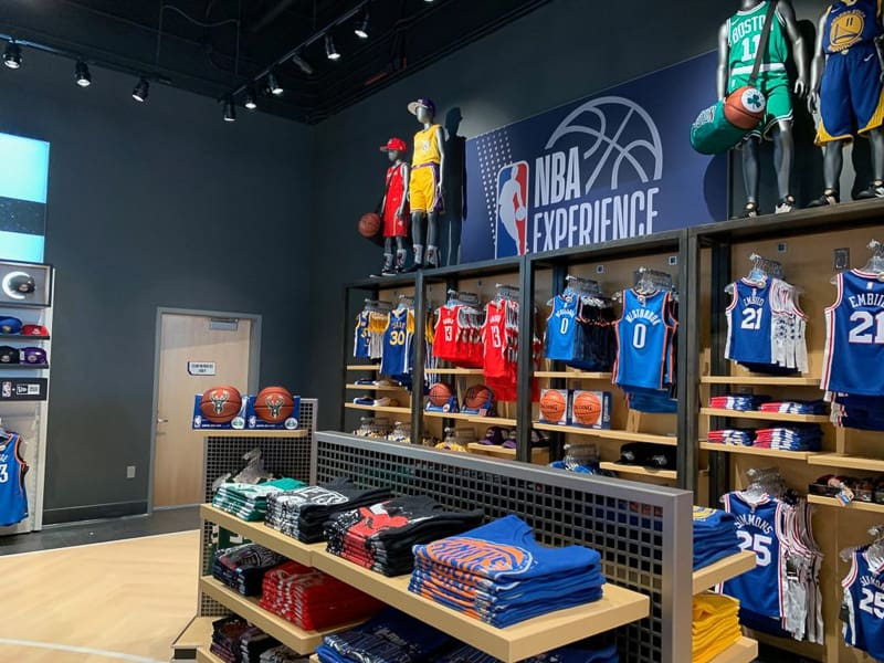 clothes in NBA Experience Store