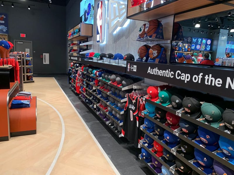 NBA Experience Store hats