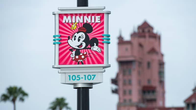 New Hollywood Studios Character Signs in Parking Lot Minnie Mouse