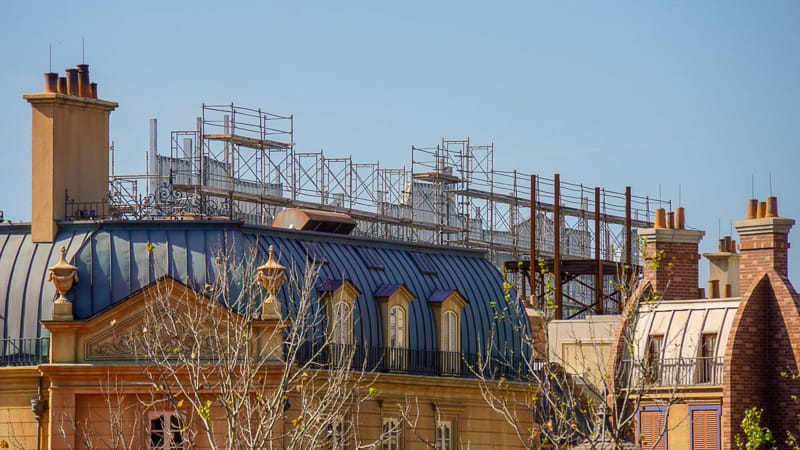 Remy's Ratatouille Adventure construction scaffolding