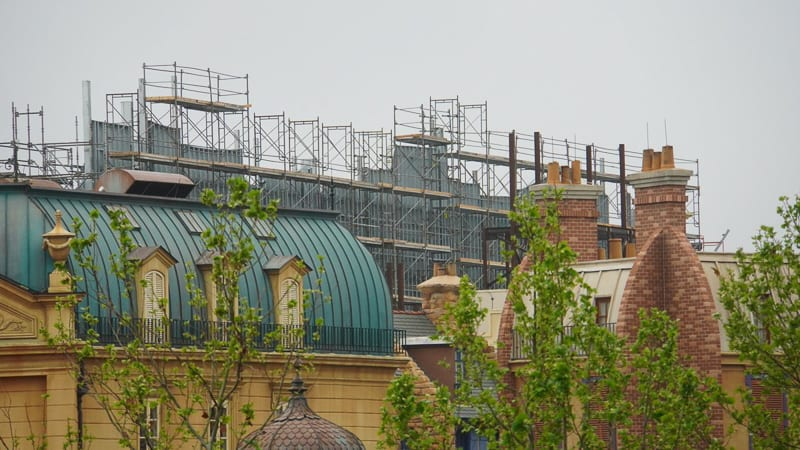 Remy's Ratatouille Adventure Construction Update March 2019 building facade