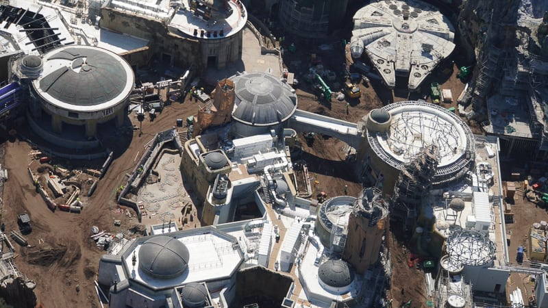 Star Wars Galaxy's Edge Construction Update March black spire outpost photo