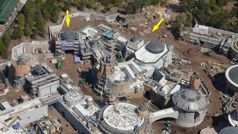 Star Wars Galaxy's Edge Construction Update March toy story land entrance