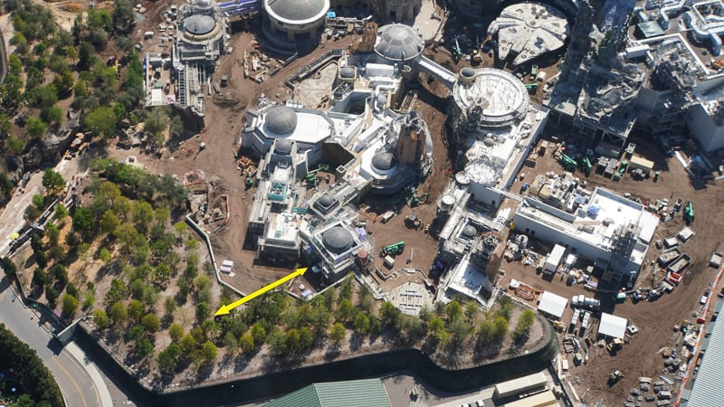 Star Wars Galaxy's Edge Construction Update March no third entrance in wow