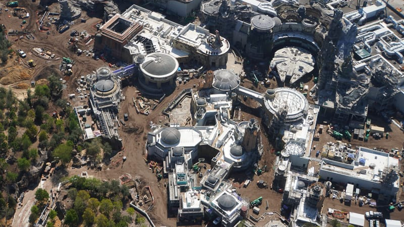 Star Wars Galaxy's Edge Construction Update March black spire outpost aerial