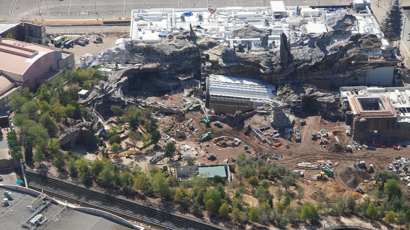 Star Wars Galaxy's Edge Construction Update March rise of the resistance aerial
