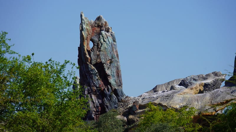 Star Wars Galaxy's Edge Construction Update March rock spire
