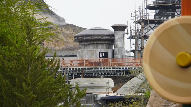 Star Wars Galaxy's Edge Construction Update March view from Toy story land