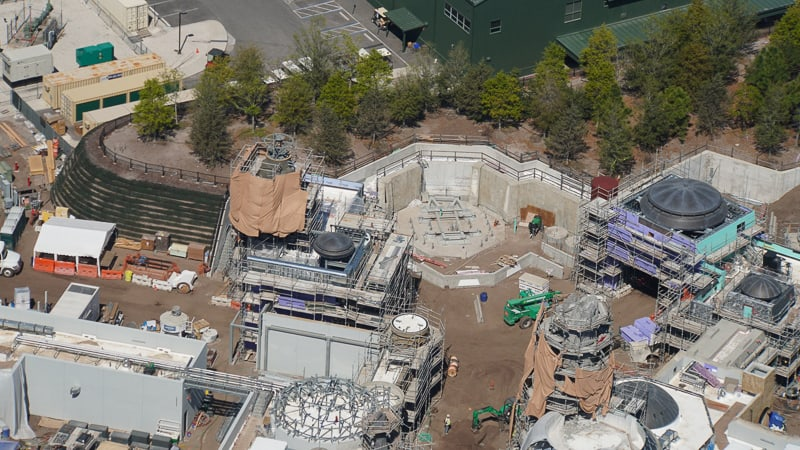 Star Wars Galaxy's Edge Construction Update March spot for spaceship