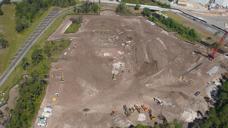Star Wars Hotel construction update March 2019 foundation