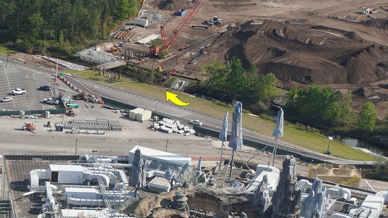 bridge at Star Wars Hotel construction update March 2019