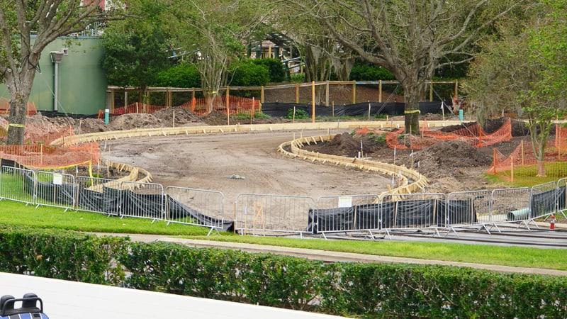 Tomorrowland speedway Construction Update March 2019 curb forms