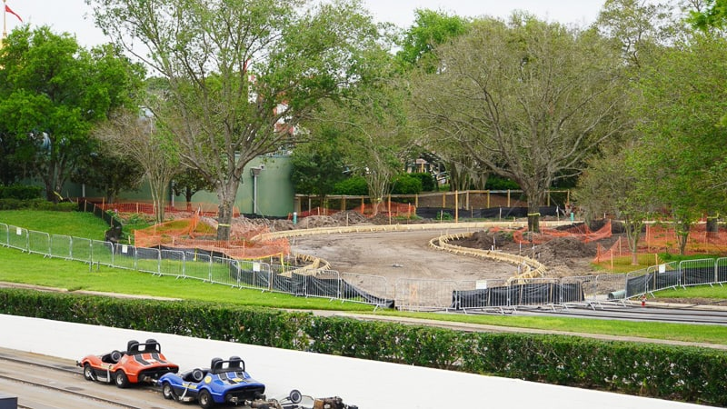 Tron Roller Coaster Construction Update March 2019 Tomorrowland Speedway construction