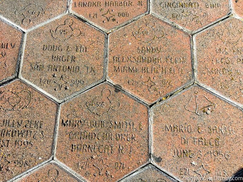 Walk Around the World Bricks in Disney's Magic Kingdom