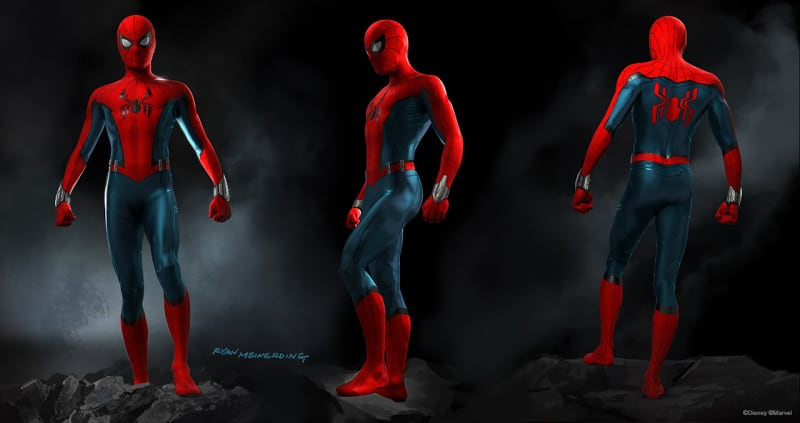 Spider-Man attraction concept art Disneyland Paris and Disney California Adventure